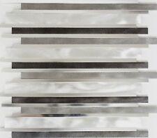 Mosaik Aluminium lang Fliesenspiegel Küche Verblender Art: 49-0206   10 Matten