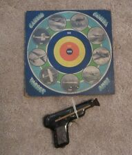 """VINTAGE"" CANDID CAMERA TARGET SHOT GAME BOARD. W/ A GUN AND RUBBER DART. USA."