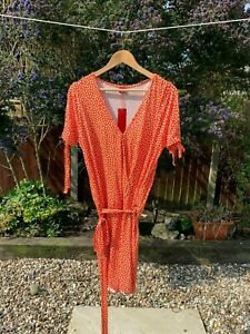 BNWT S. OLIVER TANGERINE PRINT PLAYSUIT WITH TIE WASIT SIZE 40 UK SIZE 14