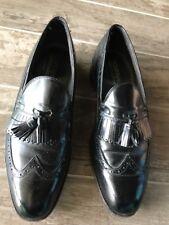 Bostonian FootSaver Black Leather Brogue Wingtip Tassel Boat Loafers Mens 13D?