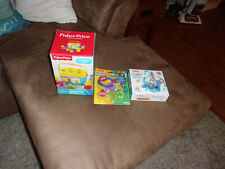 Three New Baby Toys FisherPrice Babys First Blocks Lucat Water Play Mat Nuby tee