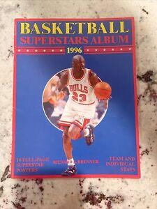 1996 Basketball Superstars Album - Michael Jordan Cover
