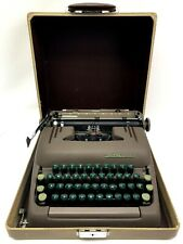 Vintage 1950s Smith Corona Silent Floating Shift Portable Typewriter Green Keys