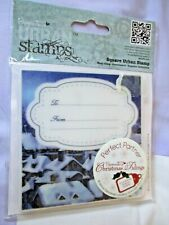 Brand New 'Silent Night' Square Urban Rubber Stamp