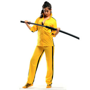 Bruce Lee Kungfu Suit Martial Arts Uniform Yellow Death Of Game Battle Tracksuit