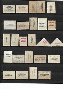 Timbres avec publicité pharmaceutiques (2 scans)