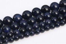 Night Sky Blue Goldstone Beads Grade AAA Round Loose Beads 3/4/6/8/10/12/15MM