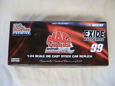 1 JEFF BURTON #99 EXIDE BATTERY 1:24 1999 DIECAST STOCK CAR JBEX9900