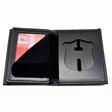 Atlanta Police Patrol Officer Badge Wallet Bi-Fold Men's Black Recessed Leather