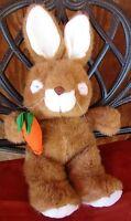 """Plush Easter Bunny Rabbit Stuffed Animal Sleeping Commonwealth 16"""" 1991 Vintage"""