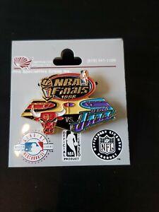 CHICAGO BULLS--UTAH JAZZ 1998 NBA Finals Pin New Vintage RARE
