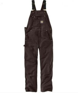 Carhartt duck bib overalls - size 4-6 short - brown