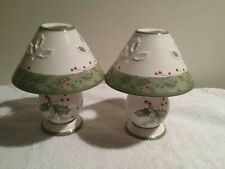 Lenox For The Holidays, Holiday Gatherings Tea Light Lamps set of 2 New