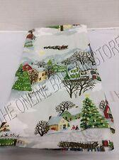 1 Pottery Barn Winter Village Scene Print Christmas Holiday Kitchen Hand Towel