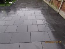 Black Slate Paving Patio Slabs Garden 12m2 400x400mm 15to20mm Thick ✔FREE DEL