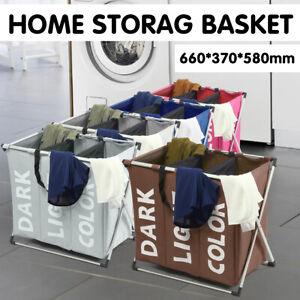 Laundry Sorter Hamper Clothes Storage Basket Bin Organizer Washing Bag Foldable