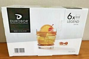 Durobor 6 X Legend Glasses Whisky Vodka Cocktail
