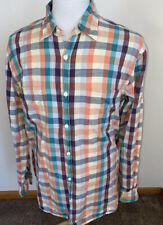Carbon 2 Cobalt Sz XL Multicolor Plaid Check L/S Button Down Soft Cotton Shirt