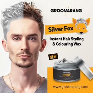 Hair Wax Silver Ash Silver Fox - Colouring Styling Washable Dye 120ml