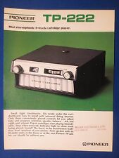 PIONEER TP-222 8 TRACK SALES BROCHURE FACTORY ORIGINAL THE REAL THING