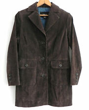 Women's Style & Co. Genuine Leather Jacket/Coat Size P/S Dark Brown