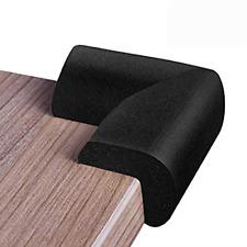 KorBabec Corner Guards for Furniture 12Pack(Black)