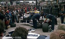 BMW F1 TURBO ENGINE NELSON PIQUET CAVE 1984 BRITISH GRAND PRIX GP Fotografia