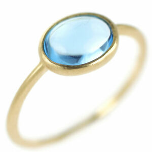 K10YG Blue Topaz Ring 1.30ct - Auth SELBY_JAPAN