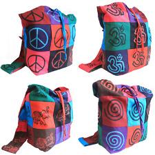 Patchwork Sling Shoulder Bag - Festival / Student Bag - Hippy Boho Funky Handbag