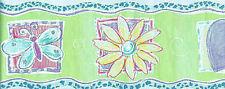 Pastel Color Double Die-Cut Hearts, Flower & Butterfly Wallpaper Border  TY7759B