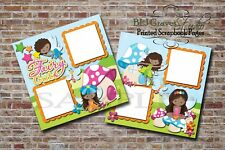 Fairy Cute Girl 2 PRINTED Premade Scrapbook Pages BLJgraves 18D