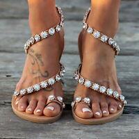 UK Womens Boho Platform Sandals Ladies Summer Holiday Beach Flip Flop Shoes Size