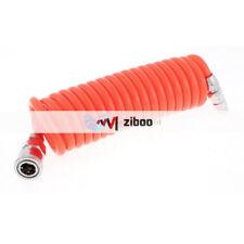 3 Meters Long 8mm x 5mm Polyurethane Coiled Air Hose Tube Orange