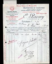 """FOUGERES (35) USINE de CHAUSSURES JAMBIERES GUETRES """"E. PACORY"""" en 1911"""