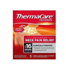 Thermacare Therapeutic Heat Wraps For Pain Relief Neck,shoulder & Wrist 3 Wraps