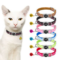 6/12/18/24pcs Wholesale Small Dog Puppy Kitten Cat Breakaway Collars with Bell