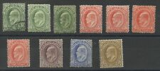 Falkland Islands 1904-12 Stamps in range SG43-48 Mint & Used