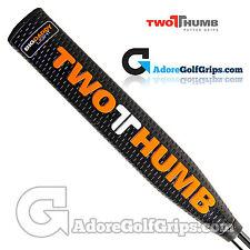 2 thumb big daddy light putter grip-noir/orange/blanc + gratuit ruban