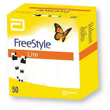 FreeStyle Lite 50 1 Pack 50 Blood Glucose Test Strips Expiry 2018/09+