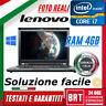 "PC NOTEBOOK PORTATILE LENOVO THINKPAD T430S 14"" CPU i7 4GB RAM +KEY WIN 10 (t430"