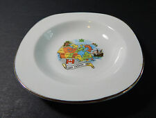 "Vintage Canada Centenial (1967) Ashtray by Alfred Meakin England ""GLO-WHITE"""