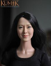 1:6 Kumik Accessory Action Figure Girl Actress Female Head Sculpt Cg Cy Km13-77
