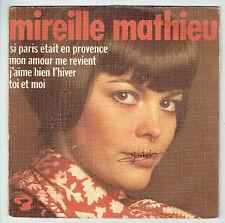 """Mireille MATHIEU Vinyle 45T EP 7"""" SI PARIS ETAIT EN PROVENCE -BARCLAY 71423 RARE"""