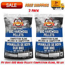 2 Pack Pit Boss BBQ Wood Pellets Competition Blend, 40 lbs, All-Natural, Grills