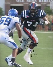 MICHAEL OHER OLE MISS REBELS SIGNED 8X10 PHOTO COA #1