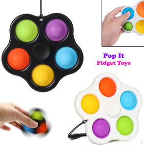2 Pieces Pop Bubble Fidget Spinner Toy Sensory Stress Relief Special Needs