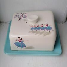 More details for beswick pavlova ballet cheese / butter dish vintage retro ceramic pottery
