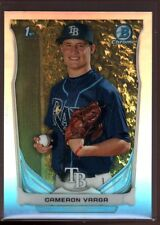 CAMERON VARGA TAMPA BAY RAYS ROOKIE REFRACTOR RC SP 2014 BOWMAN CHROME DRAFT #57