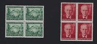 MNH stamp BLOCK set / Peter Rosegger (Poet)  / 1943 Third Reich Issues / Germany