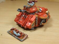 Début en métal et plastique Rogue Trader Era Chaos Space Marine Predator peint (L)